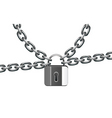 Metal chain and lock