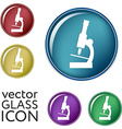 microscope sign symbol icon studying biology or vector image