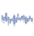 modern city skyline city silhouette in flat vector image