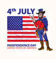 national independence day of the cowboy vector image