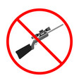 No gun sign and symbol weapon prohibited icon