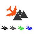 piramides airplane crash flat icon vector image vector image