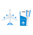 plane with airline tickets vector image vector image