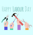 postcard to the day of labor vector image