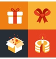 present emblems and signs vector image vector image