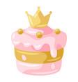 princess cake vector image vector image