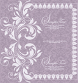 purple invitation card design vector image vector image