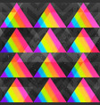 rainbow triangles seamless pattern vector image vector image