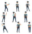 recruitment of policemen doing their dangerous vector image