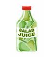 Salad juice Juice from fresh vegetables Lettuce in vector image