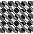 seamless black and white diagonal square pattern vector image vector image