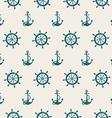seamless pattern sea anchors and wheels vector image vector image