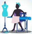 seamstress vector image