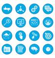 seo web icon blue vector image vector image