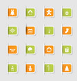 set a collection unique paper stickers icons vector image vector image