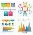 set infographic templates flat design vector image vector image