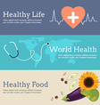 Set of Flat Design Concept for World Health Day vector image