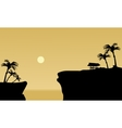 Silhouette of gazebo in cliff vector image vector image