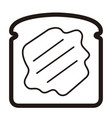 slice of bread icon vector image