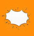speech bubble on orange background pop art comic vector image vector image
