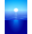 Sunshine over calm water in blue vector image vector image