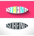 surf typography inside surging board T vector image vector image