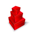 three boxes of red color stand on top of each vector image vector image