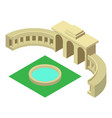 triumphal arch belgium icon isometric 3d style vector image