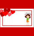 valentine theme with cute girl being in love