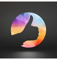 OK hand symbol OK sign icon vector image