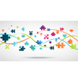 Colorful Puzzle background with lights vector image