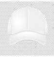 white cap vector image