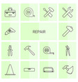 14 repair icons vector image vector image