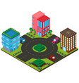 3d design for city with buildings and roads vector image vector image