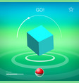 abstract background with cube virtual game vector image vector image