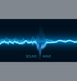 abstract blue digital equalizer with vector image vector image