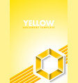 abstract yellow document template with lines and vector image vector image