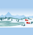beautiful winter landscape vector image vector image