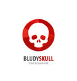 bloody skull logo for business company simple vector image