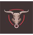 bull head emblem vector image