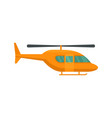 city helicopter icon flat style vector image