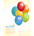 colourful balloon infographic background