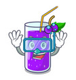 diving glass grape juice on character table vector image vector image