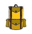 drawing backpack travel hiking equipment camping vector image vector image