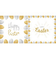 easter greetings card lettering realistic eggs vector image vector image