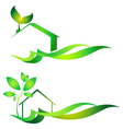 Eco house vector image vector image