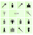 glow icons vector image vector image