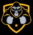 gorilla gym mascot vector image vector image