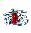 graffiti image can with arrows vector image vector image