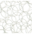 Gray overlapping circles seamless pattern Light vector image